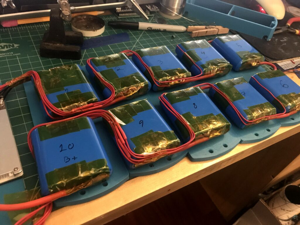 Finished Soldered Batteries